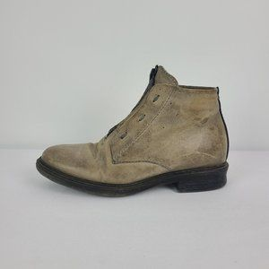 AS98 Grey Leather Booties Size 6.5
